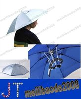 umbrella hat - NEW Foldable Outdoor Sports Golf Fishing Hunting Camping Sun Brolly Umbrella Bucket Hat Cap Blue MYY14826