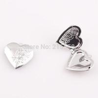 Wholesale Rhodium Silver Tone Photo Frame Setting Heart Locket Pendants For Jewelry Making JJAL BE381