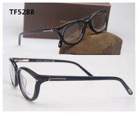 frames for glasses - TF5288 retro full rim TOM FOR men women cat eyewear acetate glasses frame eyeglasses frame optical Spectacle frame