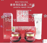 Wholesale Oriental magic cream luxury snow muscle through day cream night cream crystal white spot Send cleanser White spot in sets