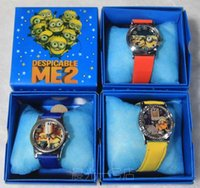 Wholesale New Despicable Me Tim the Minion Children s watch Wristwatches boxes Kids Good Gift