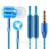 Wholesale Ear earphone metal earphone headset phone headset bass end
