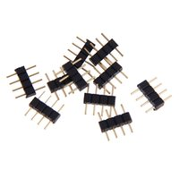 Wholesale 10pcs Pin Male Plug Adapter Connector For RGB LED Strip Light Connect Lights Pin