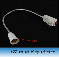 Wholesale New LED Light Lamp Socket Base Holder E27 to AU Plug Adapter Converter