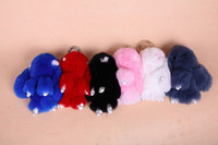 toy for man - Real Rabbit Fur Rabbit Pendant cm Christmas gift new Year s gift Accessories For Bag Colors Plush Toys