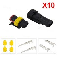 Wholesale 10 Kit Pin Way Waterproof Electrical Wire Connector Plug