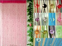 Wholesale Beaded String Curtain Fringe Curtains Fly Insect Door Screen Divider Window Curtain Blind Drape Modern Curtains for Living Room