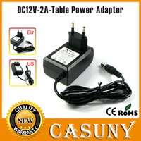 Wholesale AC100 V Hz to DC V A W x2 mm EU US Plug Table Switching Power Adapter Supply Charger For LED Strip Lights or camera