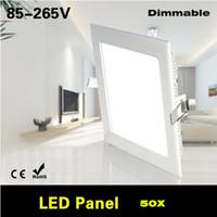 Wholesale AC85 V Dimmable W W W W W W W W W LED Square Panel light Kitchen Bathroom Downlight LED Ceiling lamp Bulb