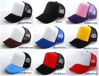 Wholesale DIY hand painted light board blank truck cap advertising cap mesh cap