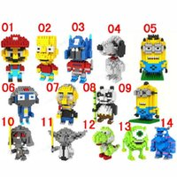 Wholesale 32pcs Hot new children gift building blocks Minions Brick blocks Star war Das Blocks for kids Small particle brick blocks