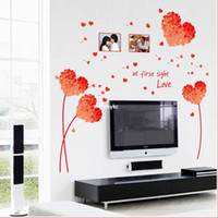 beauty wall decal - Wall stickers home decoration Factory wall stickers decorated with red child beauty love fashion creative decorative wall stickers