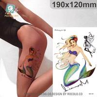 beautiful fairy tattoos - Beautiful waterproof temporary tattoos for lady women D mermaid Fairy design large tattoo sticker LC2721S