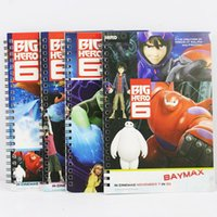 Wholesale Big Hero Notepads Note Book cm Baymax Hiro Fred Go Go Togomo Lemon Tree Character Note Pad Gift For Children
