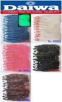 Wholesale 10pcs color pack slim bait cm blue white pink black brown squid soft bait lure dry fly Daiwa JAPAN fishing tackle