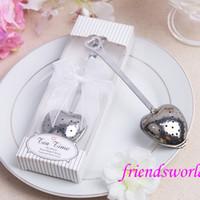 Wholesale Heart Tea Infuser Heart Shaped Stainless Herbal Tea Infuser Spoon Filter Tea Strainers