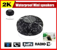 Wholesale 2015 Cheapest Portable Waterproof Bluetooth Mini Speaker Handsfree Receive Call Music Suction Phone Mic bluetooth speaker wireless