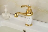 Cheap Cloud Power Gold Bathroom Taps or Mixer ,Antique Brass Bathroom Sink Faucet Hot and Cold water