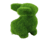 Wholesale 4 Artificial Turf Attractive small cute animals decorations animal green grass land Reduce the eye fatigue Z658