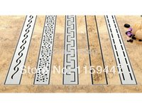 Wholesale 700mm quot TILE INSERT quot Stainless Steel Linear Shower Drain Horizontal Drain Floor Waste Tile Insert Deodorant floor drain