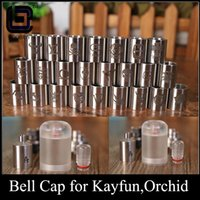 Atomizer Core ba kit - Bell Cap for Kayfun v4 orchid mm RDA BA atty clear PMMA acrylic stainless steel kayfun bell cap kit multiple choices