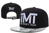 brand hip hop cap - 35 Styles New Hot TMT Hats The Money Team Snapback Caps Courtside Snapbacks Cap Brand Hip Hop Mens Women designer Hat