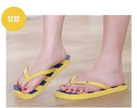 beach hotel pe - Hot style classic striped beach slippers couple sandals Flip flops Durable comfortable color Material PE solid color PVC belt HK