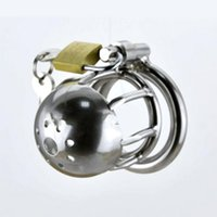 Cheap 2016 Latest Design Stainless Steel Male Bondage Chastity Devices More Small Cock Cage SM Fetish Sex Toys