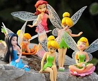 tinkerbell - 15sets cm American Anime Tinkerbell Fairy PVC Action Figure Toys Girl Gift