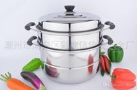 Wholesale Factory direct sales of stainless steel steamer bottom floor multi use complex double multifunction steamer pot soup pot gift