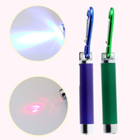 Wholesale car Hot PC LED Lazer in Mini Red Laser Pointer LED Flashlight UV Torch With Keychain High Quality
