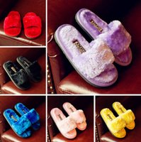 Wholesale Flannel baby fashion slippers new years old children shoes candy colored baby home slippers factory direct pair B1