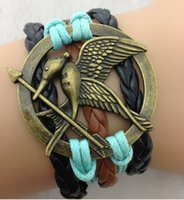 multi game - Hunger Games Infinity Bracelets Multi Layer Braided Leather Handmade Combination Pattern Colorful Charm Bracelets