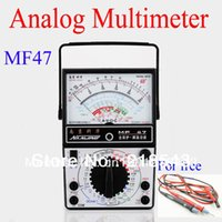 analog panel voltmeter - MF47 Traditional Analogue Multimeter Analog Panel Meter Ohmmeter Voltmeter Ammeter V A Victor Test Lead