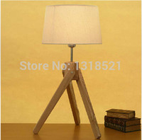 bamboo wood suppliers - Hot selling E27 factory lamp wood table light with wood shade china supplier Desk Light kids Room Gift order lt no t