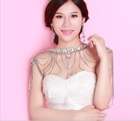Wholesale Bridal Jewelry Rhinestone shoulder chain Tassel diamond necklace