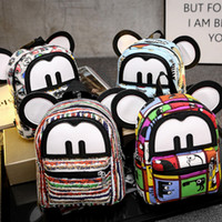 backpack england - Fashion Canvas Women Bag Backpack Style Cute Cartoon Mickey Casual Bags For Girls Soft Several Styles For Choose