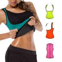 active sports neoprene - Waist Training Corset Neoprene Nylon Contrast Color Sport Waist Cincher Waist Shapewear Bustiers for Women Slimming Body N001