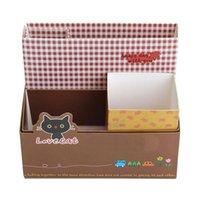 Precio de Organizadores de papel de escritorio-Junta de papel DIY Envío Gratis Caja de almacenamiento Organizador de contenedores Bolsa neceser Stuff Escritorio