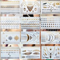 beauty accesories - new design temporary tattoo body art beauty amp health gold silver tattoos feather choker accesories flash tattoo