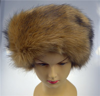 Wholesale Winter Russian Cossack Style Faux Fur Hat Ski Headband Hair Band Tenia Earwarmer