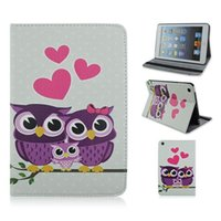 10.1 tablet case - Cute Animal Owl Case Folio Leather Tablet PC Case Cover with Stand for ipad Air ipad Ipad mini Galaxy T110 T230