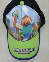 baby boy hats - 2015 New Cartoon Minecraft JJ Monster Creeper Toy Hat Kids Hats Baseball Caps Adjustable Hat Christmas Gift For Baby Boy Girl Children