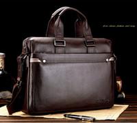 Wholesale 2015 New Arrival GENUINE LEATHER Cowhide Shoulder Leisure Men s Bag Business Messenger Portable Briefcase Laptop Large Purse Handbag