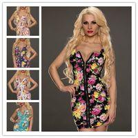 Cheap New 2014 Summer Dresses Women Sling Models Casual Bandage Dress Retro Sleeveless Vest Color Printing Dress Women Plus Size