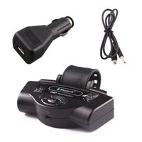 driver car mp3 player - Newest Arrival bluetooth handsfree car kit Mp3 music Player with speakerphone for drivers mobile phone dail DHL Free