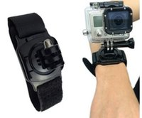 action arms - action camera Wrist strap Hero4 wrist band degree rotation of the SJ4000 strap hero5432 wrist arm with a bandage