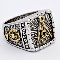 Wholesale Hot sale high quality stainless steel master masonic ring freemason signet ring best gift party