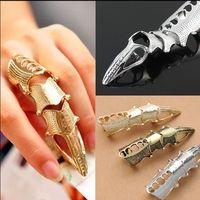 dedo aguja de plata fresca de la moda europea anillos conjuntos oro / bronce / plateado anillo de aleación de moda de los hombres suena la joyería para las mujeres 12pcs / lot