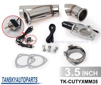 Wholesale 3 quot Electric Cutout E Cut Out Valve System W O Remote for Exhaust Catback Downpipe TK CUTYXMM35